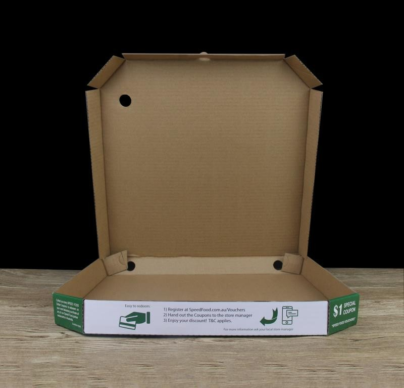 Double fold pizza boxes