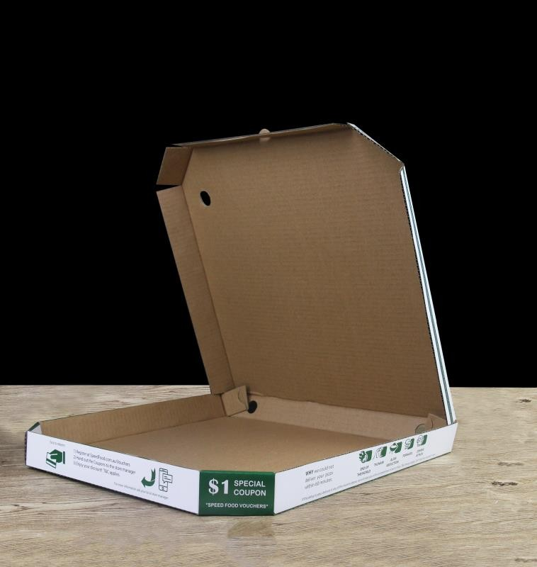Pizza box for restaurant
