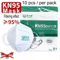 KN95 Mask (10pcs), Unisex Safety Mask With Adjustable Nose Clip