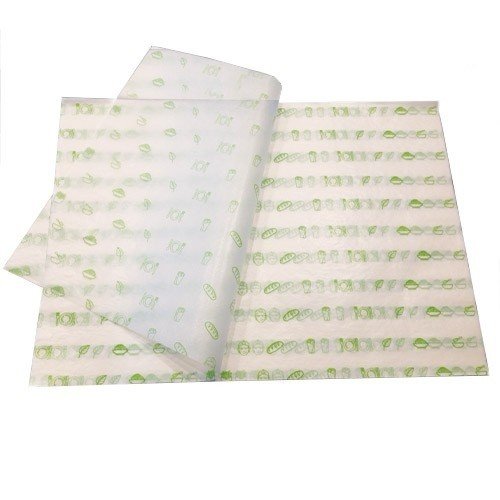 Greaseproof food wrapping paper